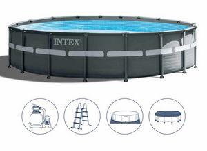 Intex-Schwimmbad 26330 Ex 26332 Ultra Frame Round 549x132, Rundes Schwimmbad über dem Boden