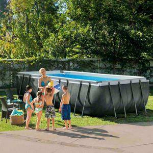 Intex Schwimmbad 26356 Ex 26352 Ultra Frame rechteckig 549x274x132, Oberirdischer Pool für den Außenbereich