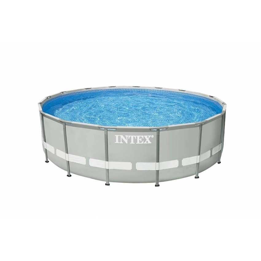 Atemberaubend metallrahmen ber den boden pools bilder for Garten pool 457x122