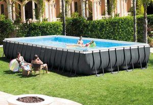 Piscina Fuori Terra Intex 26378 Ex 26376 Ultra Frame Rettangolare Volley 975x488x132, Großer rechteckiger Pool für den Außenbereich