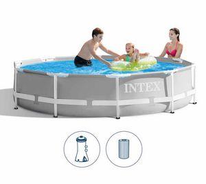 Piscina Rotonda Intex 26702 Ex 28702 Prisma Metal Frame 305cm, Runder Pool für den Außenbereich