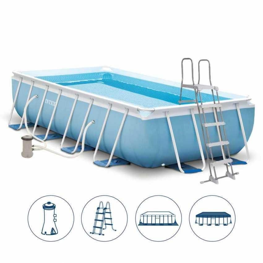 Rechteckiger Pool für den Außenbereich mit Abdeckung | IDFdesign