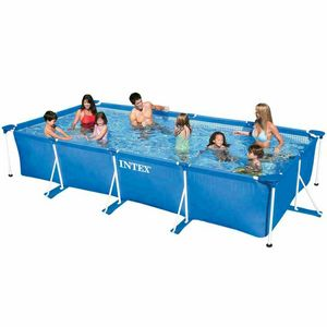 Über dem Boden Pool Intex 28273 Rechteckrahmen 450x220x84 - 28273, Rechteckiger aufblasbarer Pool für den Außenbereich