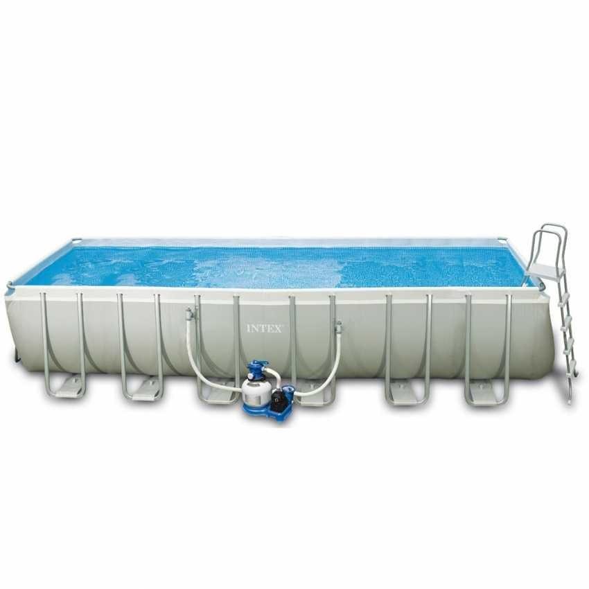 Großes rechteckiges Schwimmbad über dem Boden | IDFdesign