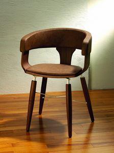 CG 918041, Moderner Sessel mit Lederpolsterung