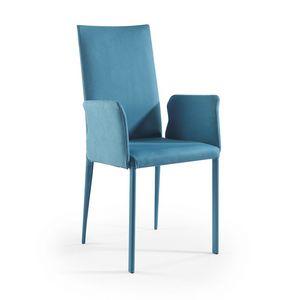 Jury Hoch BR, Moderner Stuhl mit Waffen und Wildlederbezug
