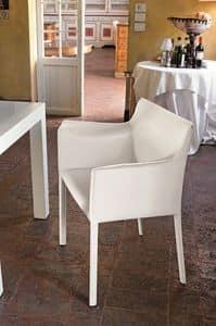 MARSIGLIA PT607, Polstersessel mit Lederbezug für die Gaststätten und Bars