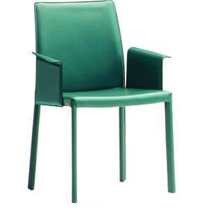 Nuvola PBL, Sessel aus Leder oder ecoleather bedeckt