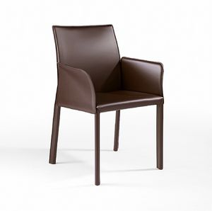 XL BR, Sessel mit Lederbezug für Bars