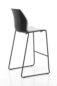 Kalea stool sled, Stuhl aus Polypropylen mit Schlittenboden