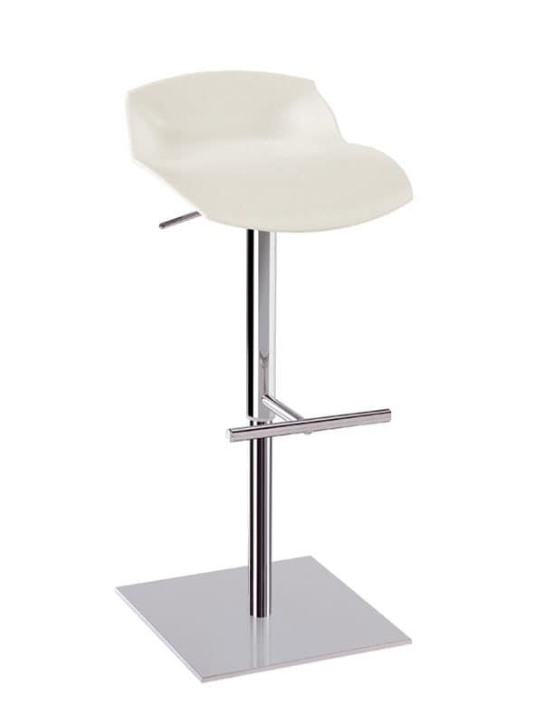 Höhenverstellbare Barhocker höhenverstellbare barhocker aus stahl mit kunststoffsitz idfdesign