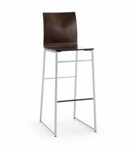 Sg. MELISSA Holz, Stuhl auf Kufen, für Vertrag und Wohnnutzung