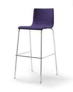 Tesa fabric ST, Gepolsterter Stuhl, Stoff oder Öko-Leder Polsterung, stapelbar