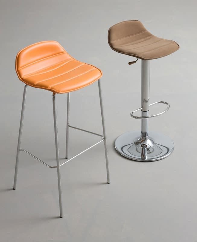 design barhocker mit sitz aus kunststoff beschichtete