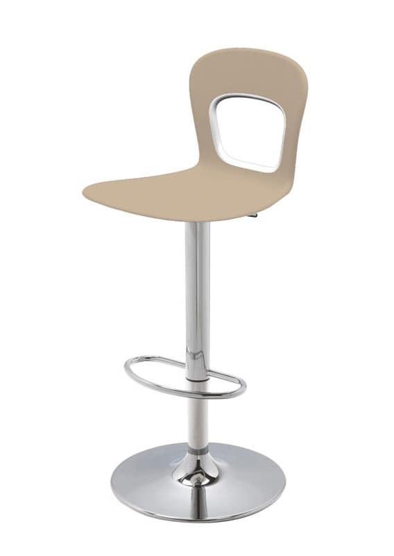 Blog Stool 145 A, Design, Drehelement, verstellbare Barhocker, mit Kunststoffsitz