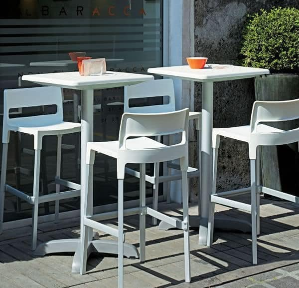 Divo Hocker, Stapelbare Stuhl für den Außenbereich, moderner Stil