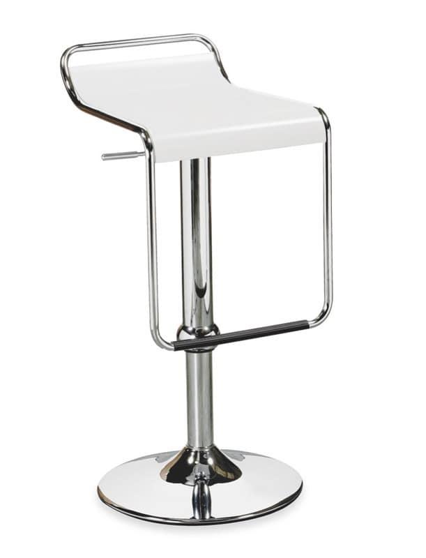 Sitze hocker modern h henverstellbar holzsitz idfdesign for Barhocker metallgestell