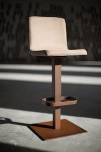Riese Hocker aus Metall, Hocker mit verstellbarem Lift und quadratischem Metallgestell