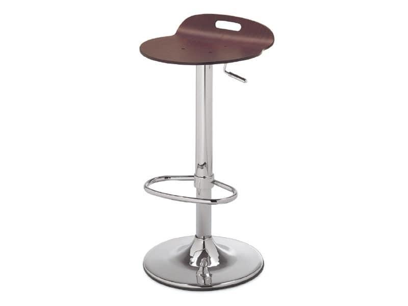 SG 339, Metall Hocker mit Holzsitz, für Küche