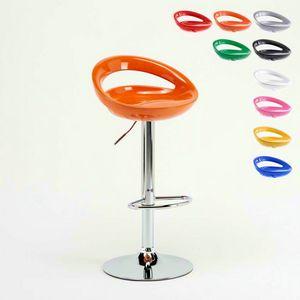 Verstellbarer Küchenbarhocker Hollywood – SGA054HOL, Verstellbarer Hochhocker mit ergonomischem 360° Sitz
