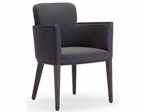 Ada-P2, Kleiner Sessel aus gepolstertem Holz