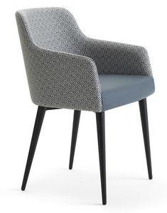 Andy-PM, Sessel mit Beinen aus Eisenrohr
