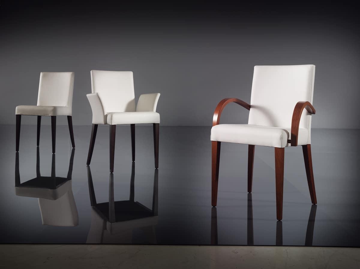 ART. 222 FLORANCE, Moderne Sessel in Buche, gepolstert Armlehnen