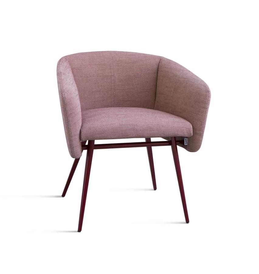 Sessel mit metallgestell konischer beine idfdesign for Sessel english