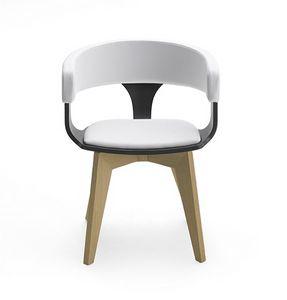 CG 918040, Stuhl aus Holz mit Armlehnen, mit Polsterung