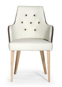 Daisy ARMS button, Moderner Sessel mit Knopfrücken