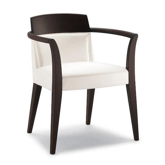 linearer stuhl mit armlehnen k chen idfdesign. Black Bedroom Furniture Sets. Home Design Ideas