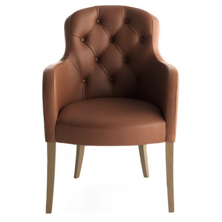 Euforia 00131K, Sessel mit Tufting-Rückenlehne