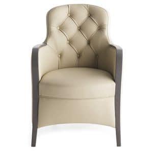 Euforia 00136K, Eleganter Sessel mit Tufting-Rückenlehne