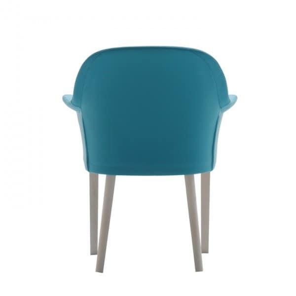 Grace 03431, Gepolsterter Sessel mit 4 massiven Holzbeinen