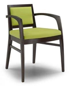 Ketty I, Moderne Sessel mit Armlehnen, für Restaurants und Hotels