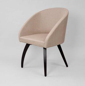 M46, Sessel mit gebogenen Beinen aus Holz