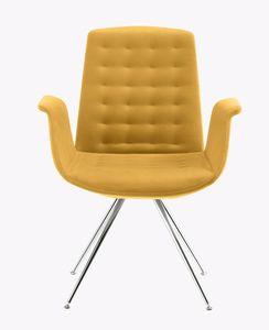 Modà, Design Sessel mit verchromten Beinen