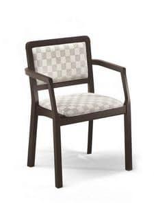 Morena PL-I, Stuhl mit Armlehnen, gepolstert, für Pizzerien und Häuser