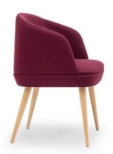 Noemi ARMS, Kleiner Sessel mit Holzbeinen