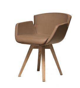 NUBIA 2900P, Sessel mit Buchengestell
