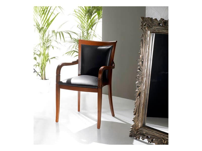 PEGGY armchair 8247A, Polstersessel mit Leder, stapelbar