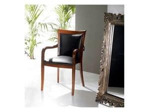 Stuhl mit buchenholz armlehnen gepolstert verschiedene for Polstersessel leder