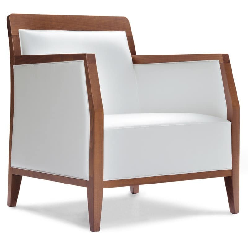 PL 49 EM, Sessel aus Holz, in Kunstleder überzogen, für den Objektbereich