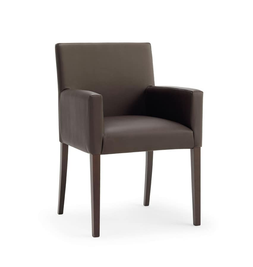 POLTRONA RELAX, Wesentliche Stuhl mit Buchenholz