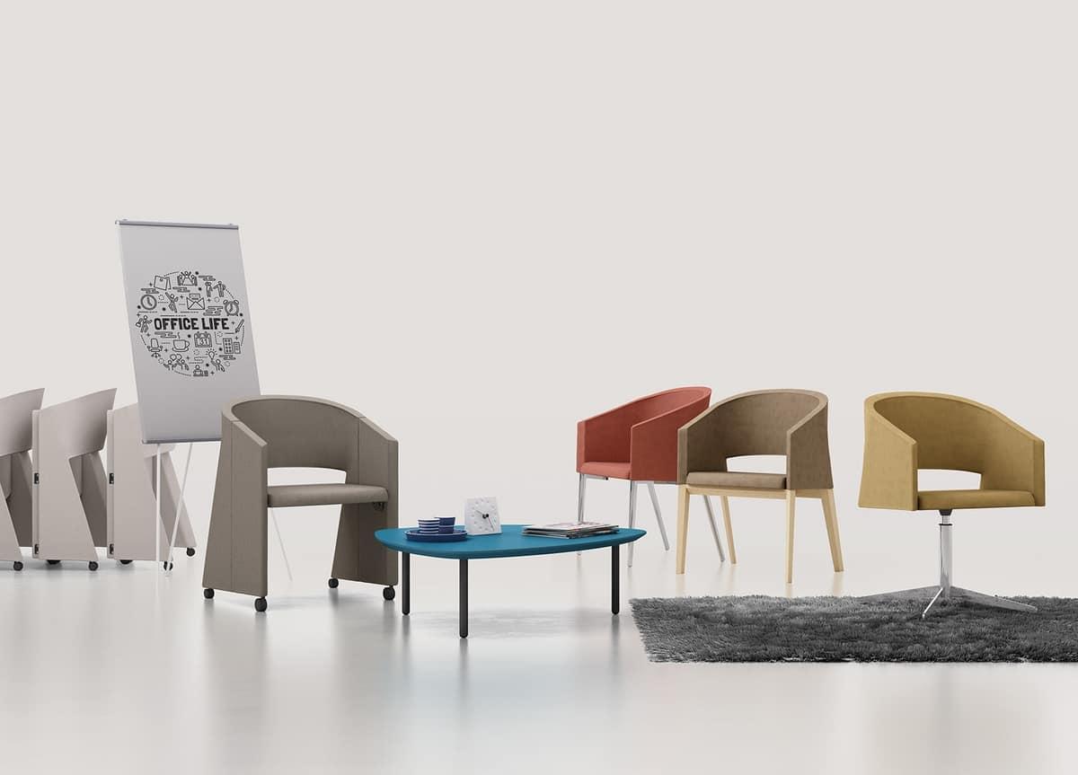 Reef 4G, Sessel mit Metallbeinen, in minimalem Stil