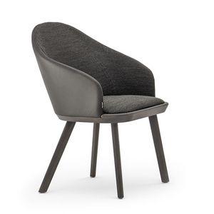 Rivolì 03331, Moderner gepolsterter Stuhl aus feuerfestem Polyurethan