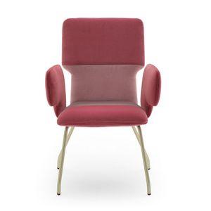 Twiggy 04122, Sessel mit Metallgestell bezogen