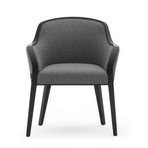 Wave 02731, Gepolsterte kleiner Sessel für Hotel und Restaurant