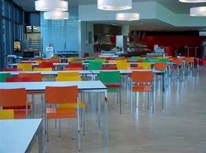 Ernesto Ice Restaurant, Quadratische Tische, kundengerecht auf den Millimeter, geeignet für Kantinen und Meetingbereiche