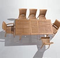 Madison ausziehbaren Tisch, Rechteckiger Tisch mit Verlängerung für Terrasse